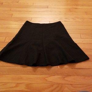 Ann Taylor Wool blue pin dot mini skirt